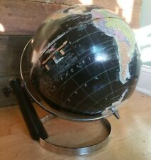 """Vintage Replogle Black Globe Chrome 12"""" Diameter 1957-64"""