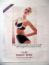 PUBLICITE-ADVERTISING :  TRIUMPH Magic Wire  2014 Lingerie Soutien-Gorge