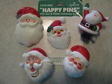 Vintage Christmas Santa Claus Pin Jewely Lot Hallmark Russ Wind Up WOW