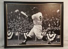 Yogi Berra NY Yankees 1/1 Signed Autographed 30x40 Framed Canvas JSA W238620