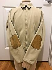 Vintage Orvis Hunting Jacket M Outdoor Leather Elbow Patch Mens Medium Tan
