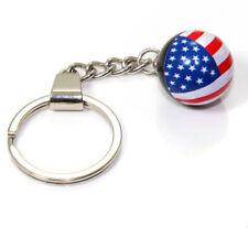 Drapeau Américain USA Balle Clé Chaîne Anneau Fob -pour Maison, Voiture, Camion,