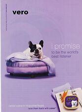 CESAR dog food 2007 ENGLISH BULLDOG puppy ad print photo clipping westie terrier