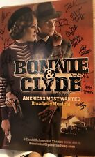 Full Cast Signed BONNIE AND CLYDE Broadway Poster Windowcard RARE