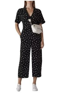 Whistles CAMILLA PRINT BUTTON JUMPSUIT UK12