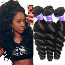 3Bundles 100% Virgin Unprocessed Loose Wave Human Hair Extension Brazilian Weave