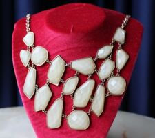 Beautiful Necklace With Many Facetted Faux Mother Of Pearl Charms