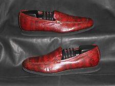 Donald j Pliner Sport Womens Burgundy lizard print leather loafer size 7M
