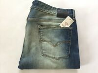 Guess Men's Original Straight Jeans Destroy And Patched Light Blue Size 32