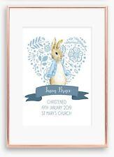 A4 Nursery/Baby personalised,Christening Peter Rabbit Boy Girl Gift Keepsake