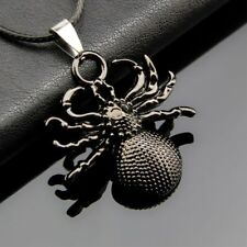 Pendant Halloween Cool Necklace Gifts Black Spider Pendant Jewelry Spider