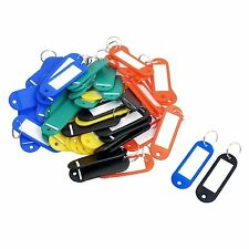 New 50Pcs Plastic Keychain Key Tags ID Label Name Tags Split Ring PK