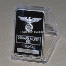 German coin collection,1oz Silver Bar with Eagle coin GERMAN WW2 IRON
