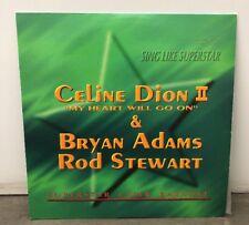 SING LIKE SUPERSTAR CELINE DION II & ROD STEWART BRYAN ADAMS LASERDISC KARAOKE