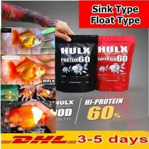 HULX High Quality Goldfish Food Sinking Float Pellet Whey Mixed High Protein 60
