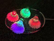 4Pcs Birdies Lighting Dark Night Colorful Glow LED Badminton Shuttlecock Fashion