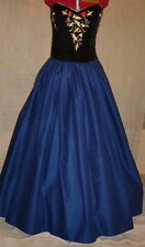 "Navy 144"" skirt for Medieval, Sca, Renaissance, Steampunk to Victorian Halloween"