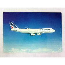 Aire Francia Airlines Boeing 747 FBPVF durante el vuelo Avión Tarjeta postal