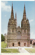 Staffordshire Postcard - The West Front - Lichfield Cathedral   BH5872