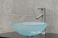 Bathroom Frosted Glass Vessel Vanity Sink Faucet R12FL1