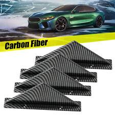 Car Look Rear Bumper Lip Diffuser Shark Fins Splitter 4PC Carbon Fiber General