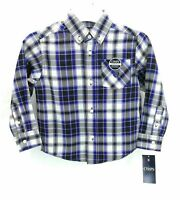 CHAPS Boy's Long Sleeve Button Front Plaid Shirt Size 4 MSRP $32