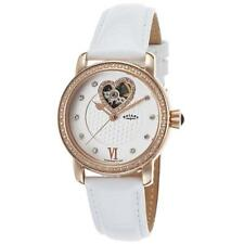 NEW IN BOX $790 Rotary Womens Watch Skeleton See-thru Heart LS00103-06