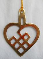 Hand Made HEART Silver Metal Christmas / Xmas Tree Decoration / Light Catcher