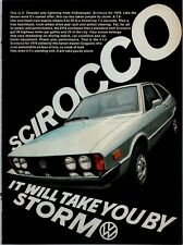 1976 VW Scirocco Will Take You By Storm Volkswagen 1975 Vintage Print Ad