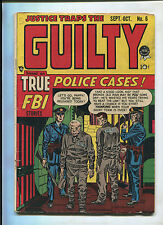 JUSTICE TRAPS THE GUILTY VOL. 1 #6 (4.5) TRUE FBI POLICE CASES!