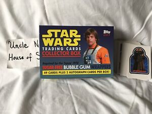 Topps Star Wars 2017 Collector Cards & Box, 1978 Style, NM