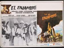 F040  THE SWARM Mexican Lobby Card '78 , border art of killer bee attack