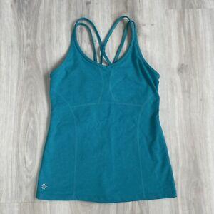 ATHLETA Teal Blue Sports Vest Size M Racer Back Built In Bra Gym Yoga