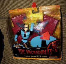 New 2003  Disney Incredibles Mr. Incredible Punch & Rescue Figure & Bonus Poster