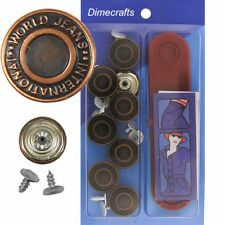 17 mm No-Sew Replacement Jean Tack Buttons w/Tool (BCD1T8)  8 CT.