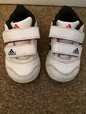 Adidas Ortholite Velco Trainers White Infant Size 4 SB1