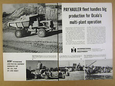 1963 IH International Model 65 Payhauler ocala FL lime rock corp use vintage Ad