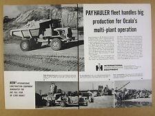 1963 IH International Model 65 Payhauler ocala FL lime rock corp use vintage Ad