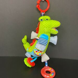 Fisher Price Alligator Croc Baby Plush Rattle Hanging Activity Teether Crinkle