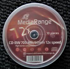 CD-RW Rohlinge / MediaRange / 700 MB / 80 Min. / 12x Speed / 10 Stück
