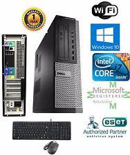 Dell SFF Computer Core i7 2600 Windows 10 pro 64 500GB SSD 16gb Ram