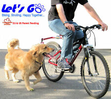 Bicycle Leash, Let's Go RED Petwalker, Bike Leash, riding bicycle with your dog