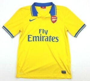 Nike Arsenal 2013/2014 Yellow Soccer Futbol Jersey Medium Mens