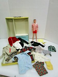 Vintage Mattel Ken Doll in case with Clothes