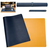 22x31inch GX/&XD Premium Leather Mouse Pad,Large Office Writing Desk Mat Extended Not-Slip Rubber Base Table Pad Elegant Stitched Edges Mouse Mat-Black 55x80cm
