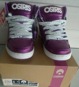 Osiris Shoes NYC 83 Slim - Ladies High Top - Purple/White/Glitz