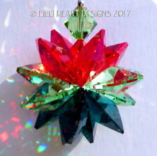 m/w Swarovski New Christmas Ornament Suncatcher Red Greens Lilli Heart Designs