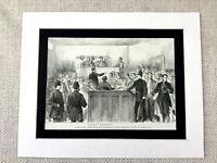 1887 Stampa Irlandese Independence Eire Mitchelstown Irlanda William o'Brien