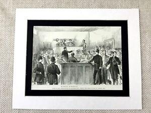1887 Print Irish Independence Eire Mitchelstown Ireland William O'Brien Eire