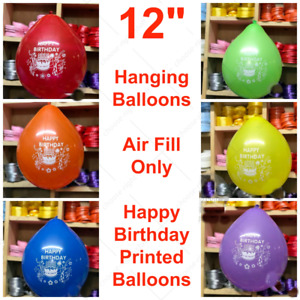 Assorted Colours of Happy Birthday Printed balloons BALLON BALON Air Fill